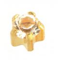 Kõrvarõngad Rock Crystal, kullatud